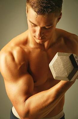 Ambition Photograph - Man Lifting Weights by Don Hammond