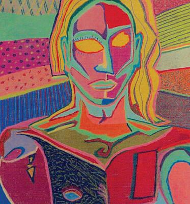 Man Print by Mike Manzi