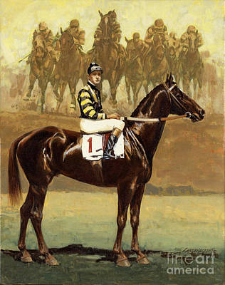 Thoroughbred Painting - Man O' War  by Don  Langeneckert
