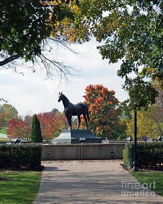 Kentucky Horse Park Photograph - Man O' War Statue  by Roger Potts