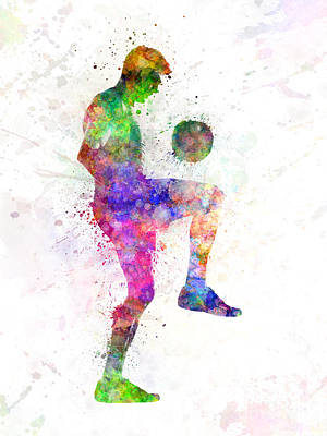 Man Soccer Football Player Print by Pablo Romero
