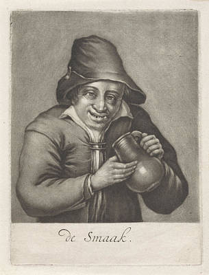 Man With A Beer Bottle, Anonymous Print by Anonymous