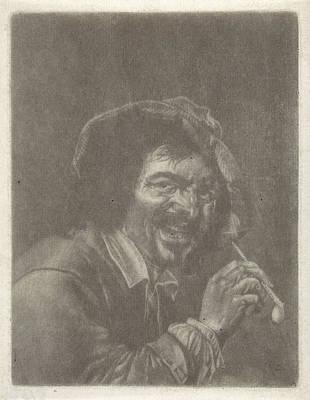 Man With A Pipe, Jan Van Der Bruggen, Jan Verkolje I Petrus Print by Jan Van Der Bruggen And Jan Verkolje I And Petrus Staverenus