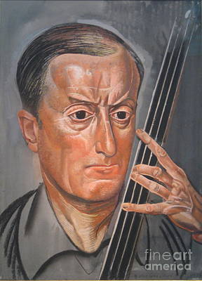 Slavic Painting - Man With Cello by Celestial Images