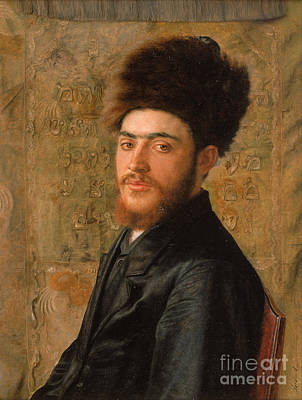 Orthodox Painting - Man With Fur Hat by Celestial Images