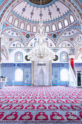 Manavgat Mosque Interior 01 Print by Antony McAulay