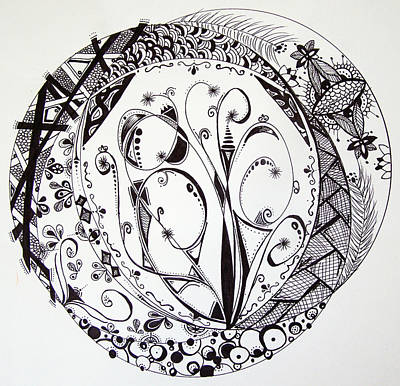 Mandala #1 Print by Lori Thompson
