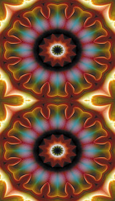 Relaxing Digital Art - Mandala 101 For Iphone Double by Terry Reynoldson