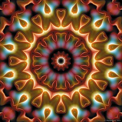 Healing Digital Art - Mandala 102 by Terry Reynoldson