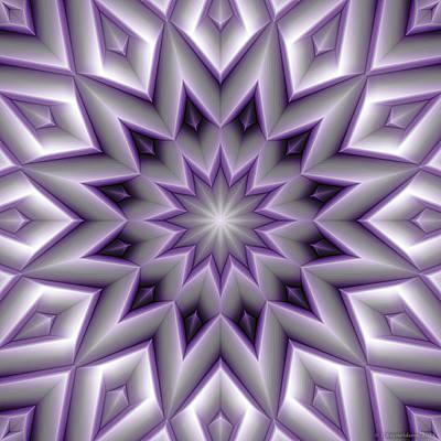 Mandala 107 Violet Print by Terry Reynoldson