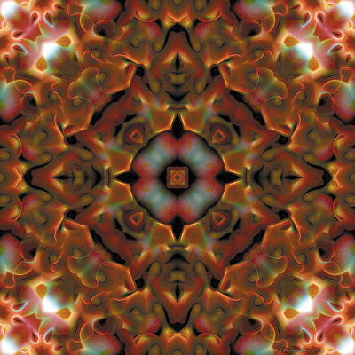 Square Digital Art - Mandala 119 by Terry Reynoldson