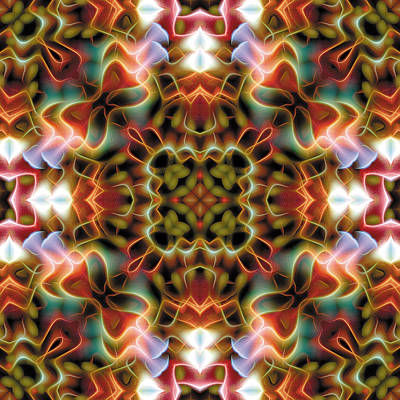 Contemplative Digital Art - Mandala 120 by Terry Reynoldson