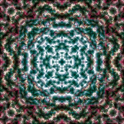 Contemplative Digital Art - Mandala 122 by Terry Reynoldson