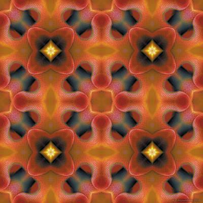 Metaphysical Digital Art - Mandala 124 by Terry Reynoldson