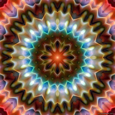 Psychedelic Digital Art - Mandala 79 by Terry Reynoldson