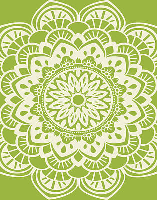 Lime Painting - Mandala 8 by Tamara Robinson