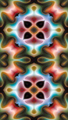 Metaphysical Digital Art - Mandala 82 For Iphone Double by Terry Reynoldson