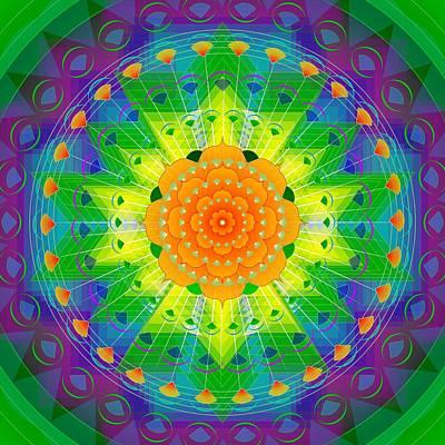 Metaphysics Digital Art - Mandala For Personal Healing by Sarah  Niebank