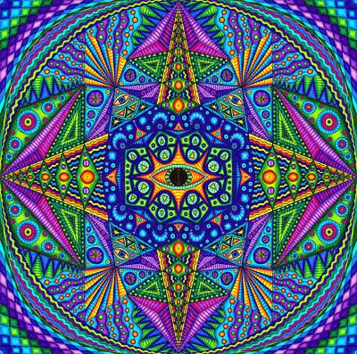 Crayons Drawing - Mandala Madness by Matt Molloy