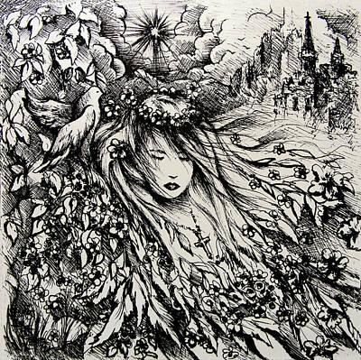 Born Again Drawing - Mandee's Dream by Rachel Christine Nowicki