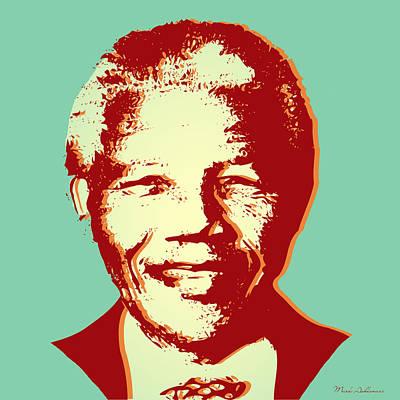 Mandela Digital Art - Mandela by Mark Ashkenazi