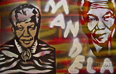 Civil Rights Painting - Mandela by Tony B Conscious