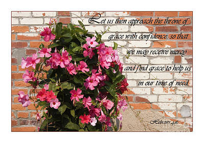 Scripture Photograph - Mandevilla With Scripture by Jill Lang