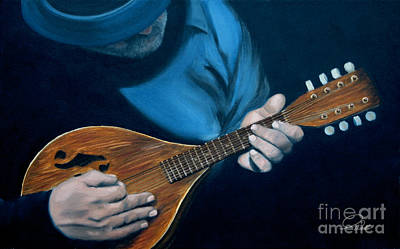 Painting - Mandolin by A Wells Artworks