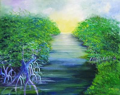 Mangrove Forest Painting - Mangrove Retreat by Jane Ricker