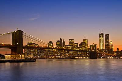 Brooklyn Bridge Digital Art - Manhattan Brooklyn Bridge by Melanie Viola