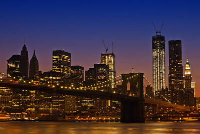 Northamerica Photograph - Manhattan By Night by Melanie Viola