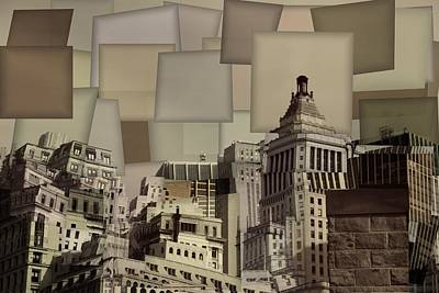 Nyc Mixed Media - Manhattan Cubism by Dan Sproul