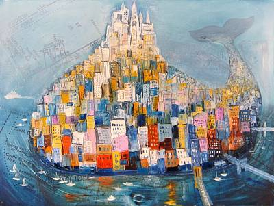 Financial Mixed Media - Manhattan by Mikhail Zarovny