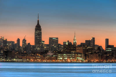 Empire State Building Photograph - Manhattan Skyline And Pre-sunrise Sky I by Clarence Holmes