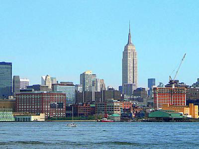 Skyscrapers Photograph - Manhattan Skyline As Seen From Hoboken Nj by Susan Savad