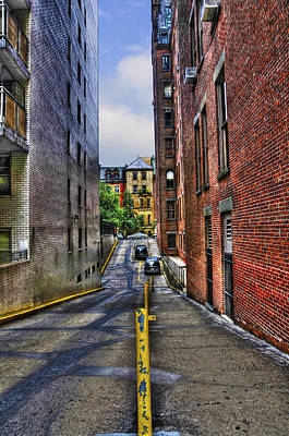 Manhattan Theater District Alley Print by Randy Aveille