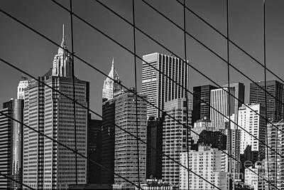 Brooklyn Bridge Photograph - Manhattan Through The Brooklyn Bridge by Liz Leyden