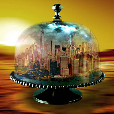 Desert Mixed Media - Manhattan Under The Dome by Marian Voicu