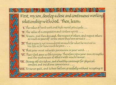 Moral Digital Art - Manhood I by Don King