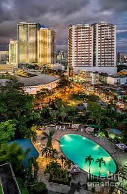 Complex Digital Art - Manila City by Adrian Evans