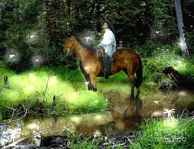 Fluttering Digital Art - Manisay Creek  by Tom Straub