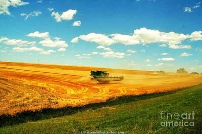 Mankato Nebraska Wheat Harvest Print by PainterArtist FIN
