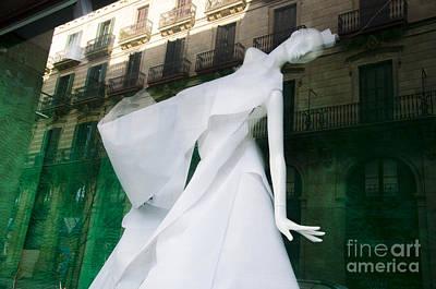 Mannequin In Barcelona Print by Victoria Herrera