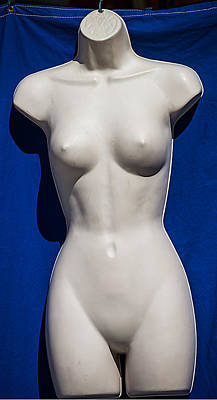 Mannequin On Blue Original by Laurence Levine