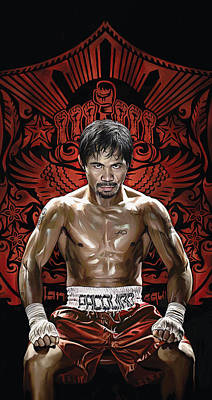 Boxing Painting - Manny Pacquiao Artwork 1 by Sheraz A