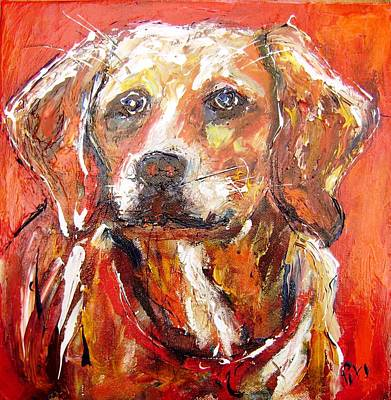 Dog Painting - Your Dog ...nicer Than The Average Person  by Mary Cahalan Lee- aka PIXI