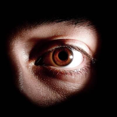 Human Eye Photograph - Man's Eye by Mcs