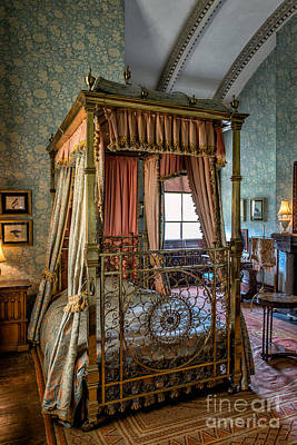 Bed Quilts Photograph - Mansion Bedroom by Adrian Evans