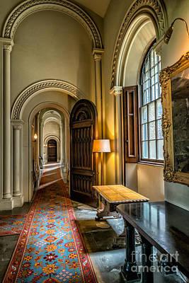Oil Lamp Digital Art - Mansion Hallway II by Adrian Evans