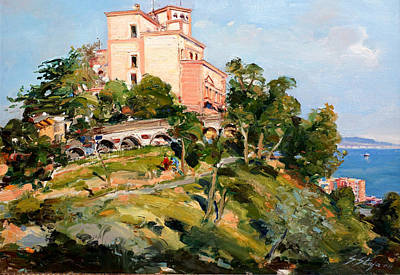 Albania Painting - Mansion Of King Zogu  by Sefedin Stafa